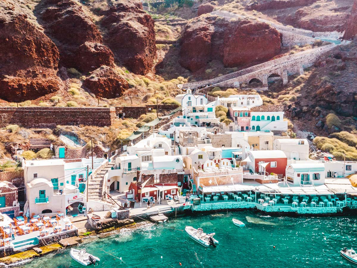 Visit amoudi beach what should i do in Santorini