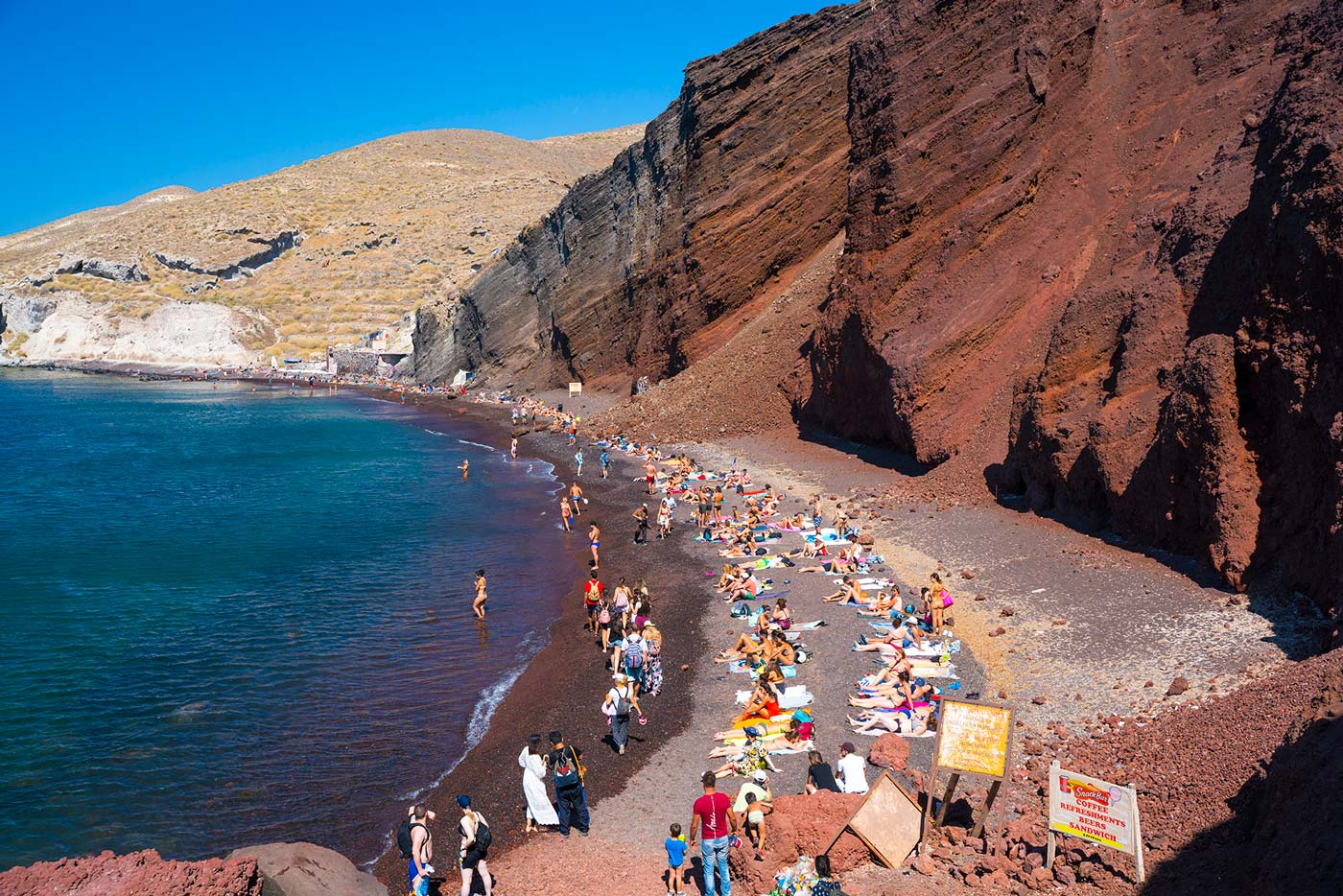 Red beach on Santorini