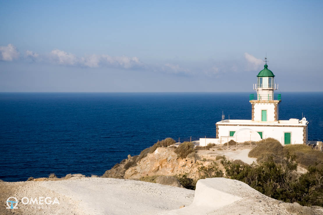Lighthouse or Faros in Santorini, Greece