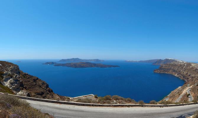 The Mysterious Beauty of Santorini's Caldera