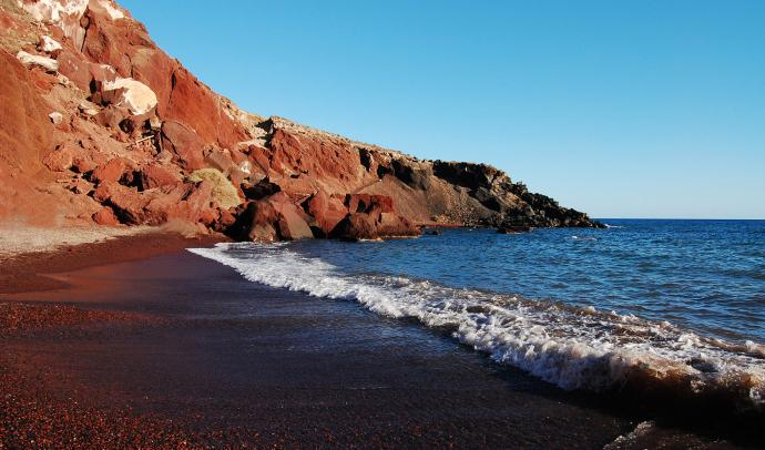 Red Beach in Santorini, Greece